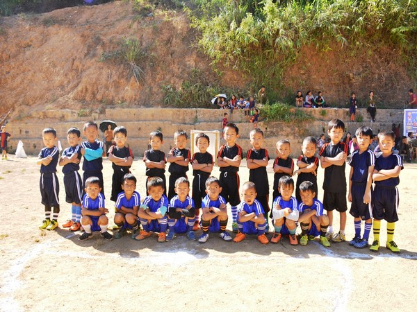 Kids participating in Golden Baby League in Mizoram (Photo/ Indian Football Team Twitter)