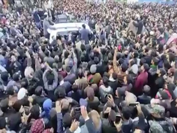 Thousands of people protesting against vote-rigging in Gilgit-Baltistan Legislative Assembly elections.