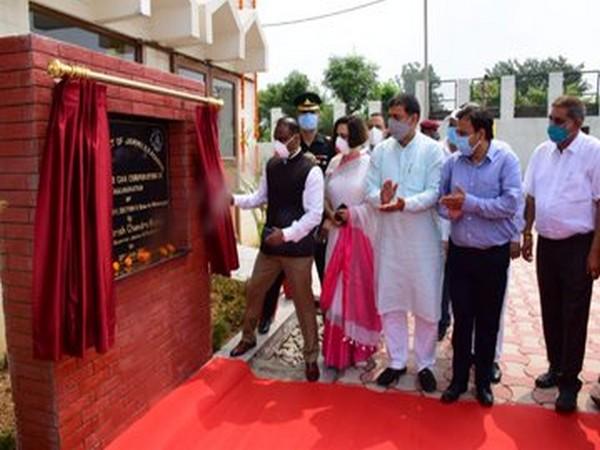 Lt Governor GC Murmu inaugurating the ropeway in Jammu on Monday. Photo/ANI