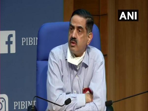 Dr Balram Bhargava, DG, ICMR addressing a press confernece in New Delhi on Tuesday. (Photo/ANI)