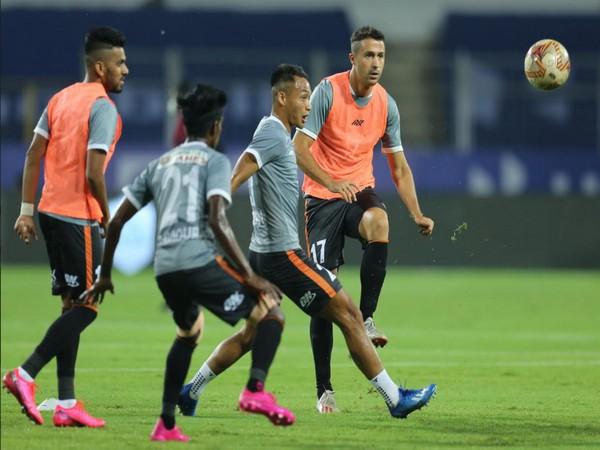 Goa players training ahead of their fixture against Kerala (Photo/ ISL)