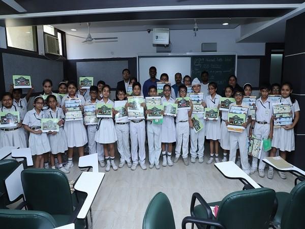 Students of Universal Public School with GIA GemKids Workbook