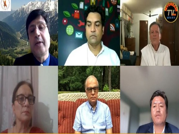 Panelists of GKPD's discussion titled 'International Virtual Event on 'Kashmir Today: Geopolitical, International and National Aspects' (Photo credit: GKPD facebook)