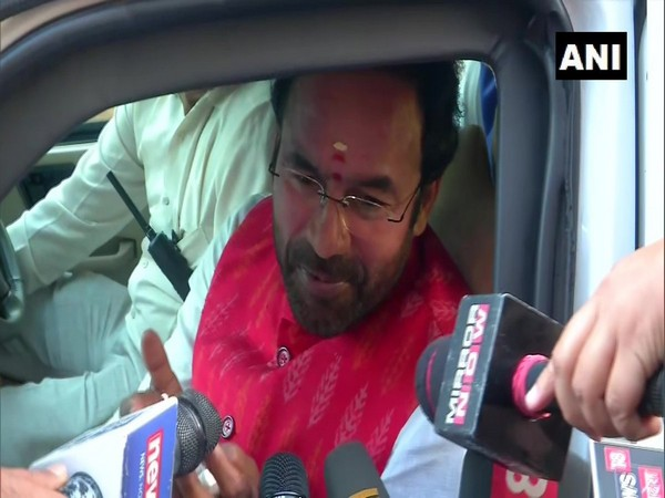 MoS for Home Affairs G Kishan Reddy speaking to reporters in New Delhi on Monday. Photo/ANI
