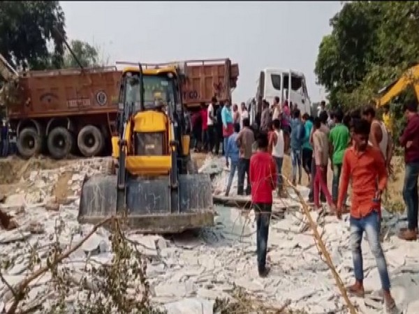 Six girls died after an overloaded truck trolley overturned on them. Photo/ANI