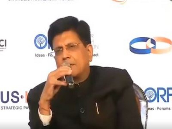 Visuals of Commerce Minister Piyush Goyal from Tuesday's conference in New Delhi. (Piyush Goyal Twitter)