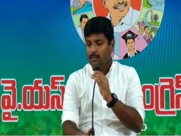 YSR Congress Party Spokesperson Gudivada Amarnath addressing a press conference in Visakhapatnam on Tuesday. (Photo/ANI)
