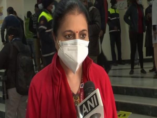 Dr Nandini Duggal, Head of Microbiology at Delhi's Ram Manohar Lohia Hospital talking to ANI on Saturday. (Photo/ANI)