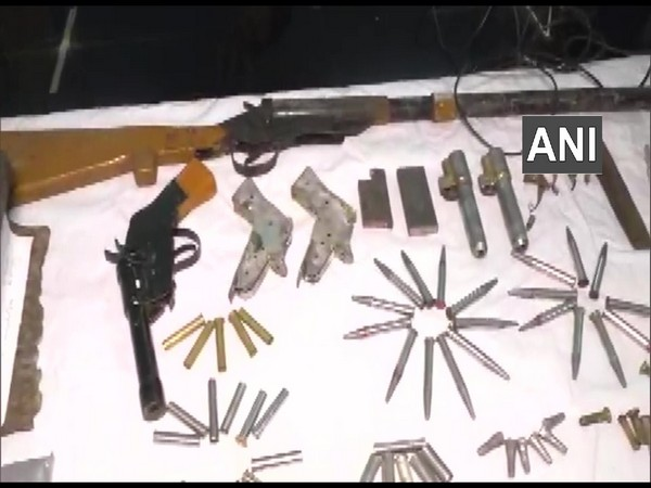 Two arms, some unfinished arms, and ammunition have been seized. (Photo/ANI)