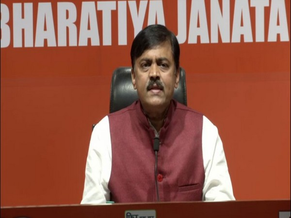 GVL Narasimha Rao at a BJP Press Conference in New Delhi. Photo/ANI