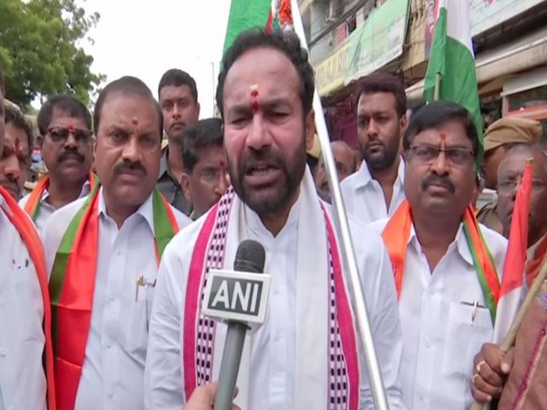 G. Kishan Reddy speaks to ANI in Hyderabad on Friday [Photo/ANI]