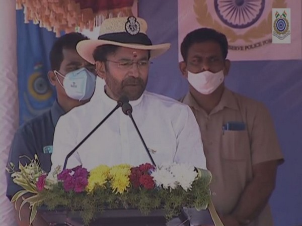 Minister of State for Home Affairs G kishan Reddy speaking at the inauguration of NCDE at Rangareddy in Telangana on Thursday [Photo/ANI]