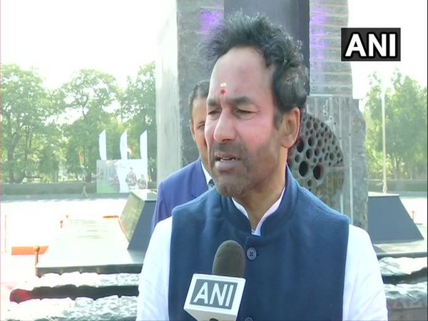 Minister of State for Home Affairs G Kishan Reddy talking to ANI.