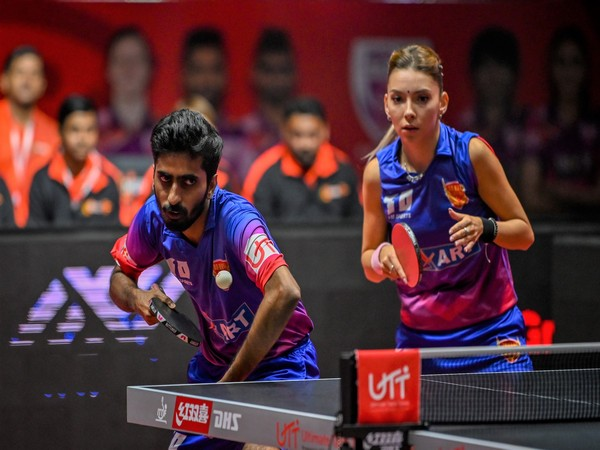 Table Tennis players in action in UTT Season 3