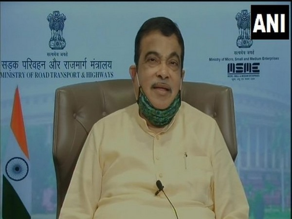 Union Minister Nitin Gadkari speaking at a