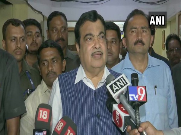 Union Minister Nitin Gadkari speaking to mediapersons in Mumbai, Maharashtra on Friday. (Photo/ANI)