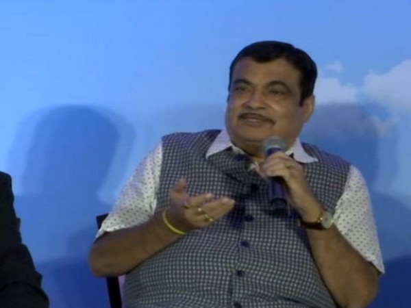 Nitin Gadkari addressing reporters during an event in Delhi on Wednesday. Photo/ANI
