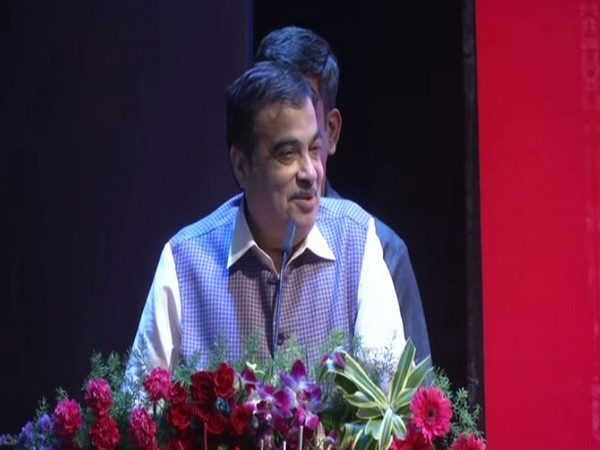 Union Minister Nitin Gadkari speaking at a function in Nagpur on Saturday. Photo/ANI