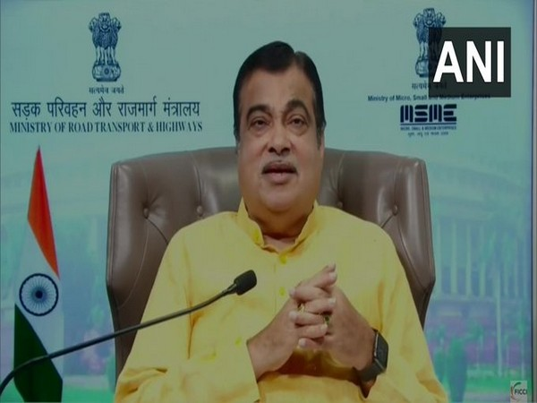 Union Minister Nitin Gadkari addressing the virtual session during FICCI's 93rd Annual General Convention on Saturday. [Photo/ANI]