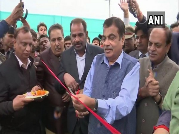 Union Minister of Road Transport and Highways Nitin Gadkari inaugurating flyover in Delhi on Saturday.