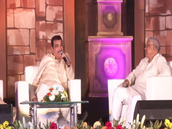 Union Minister Nitin Gadkari in Nagpur on Saturday. Photo/ANI