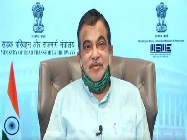Union Minister Nitin Gadkari addressing India Idea Summit as well as the 45th annual meeting organised by US-India Business Council and US Chamber of Commerce. Photo/ANI