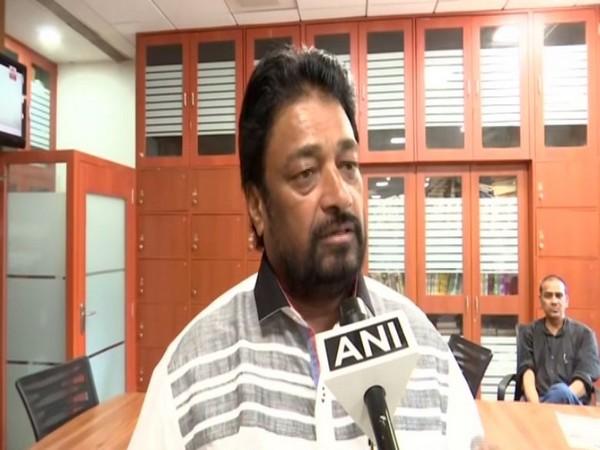 NCP MLC Prakash Gajbhiye speaking to ANI on Tuesday in Mumbai.