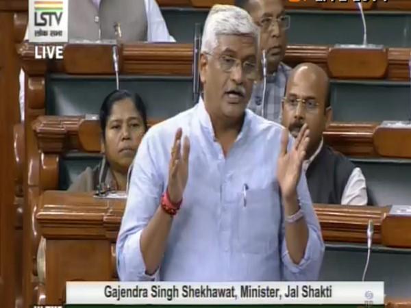 Jal Shakti Minister Gajendra Singh Shekhawat (Source: LS TV)