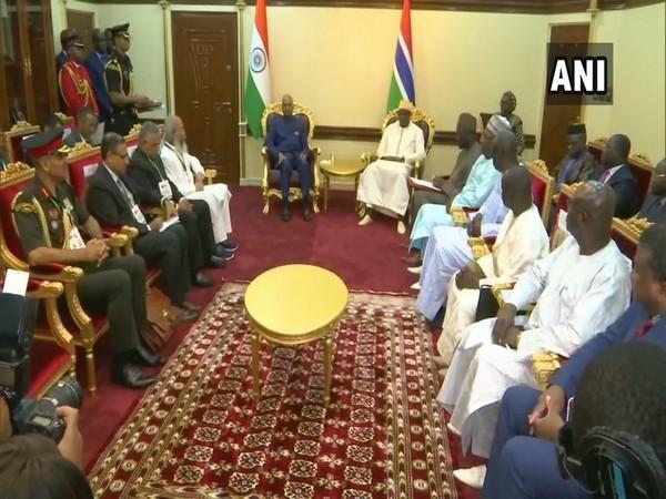 President Ram Nath Kovind held delegation-level talks with his Gambian counterpart President Adama Barrow on Wednesday
