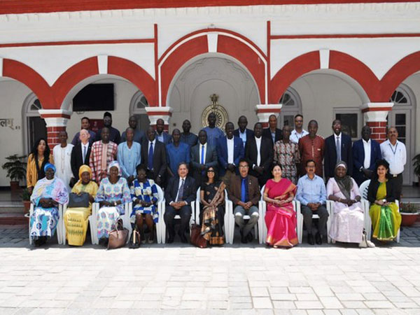 Gambian civil servants at NCGG in Mussoorie on Monday. (Picture Credits: MEA Twitter)