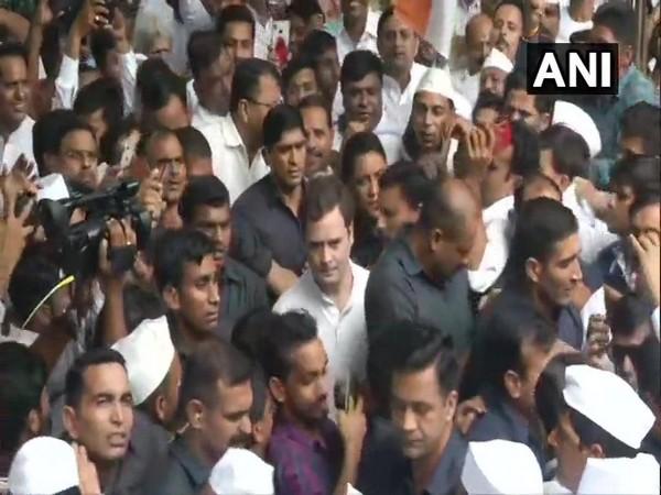 Rahul Gandhi participates in Sandesh Yatra in Delhi on Wednesday [Photo/ANI]