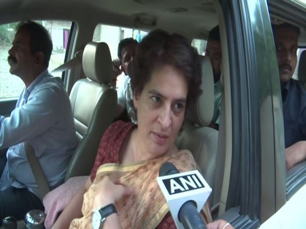 Congress leader Priyanka Gandhi speaking to ANI on Monday in Amethi, Uttar Pradesh. Photo/ANI
