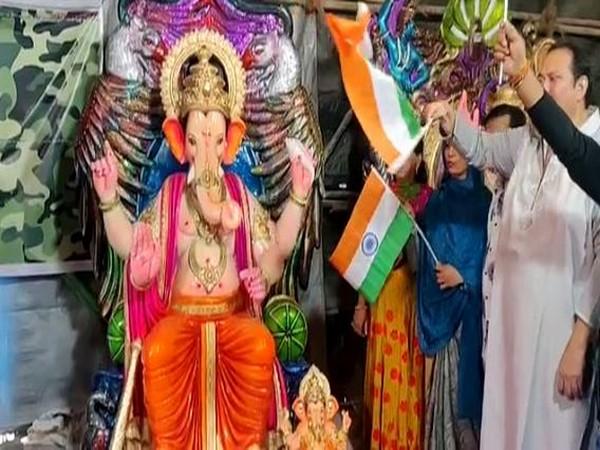 Kiran Ishar has been installing Lord Ganesha at LoC for the past three years. Photo/ANI