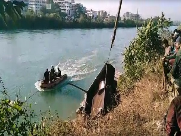 Search operation taking place in the Ganges Canal on Sunday.