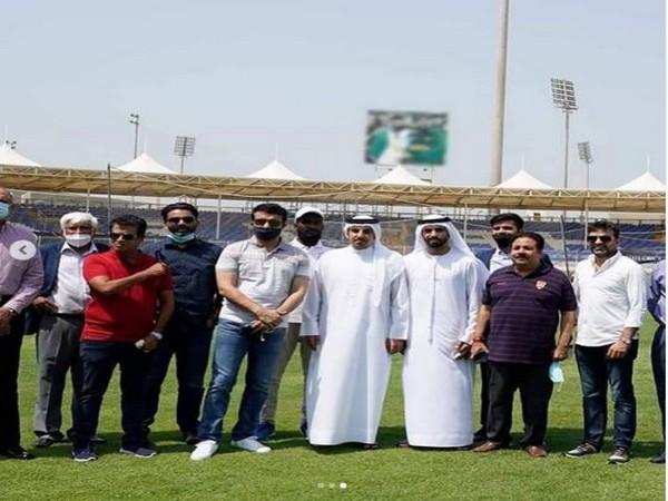 Sourav Ganguly visits Sharjah Cricket Stadium. (Photo/ Sourav Ganguly Instagram)