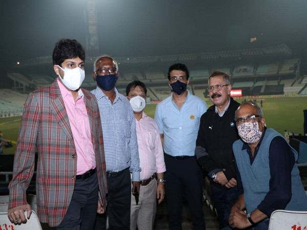 Sourav Ganguly and other office bearers of CAB at Eden Gardens