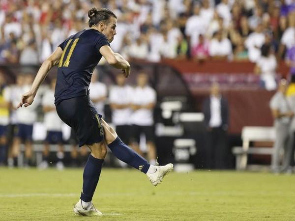 Real Madrid's striker Gareth Bale