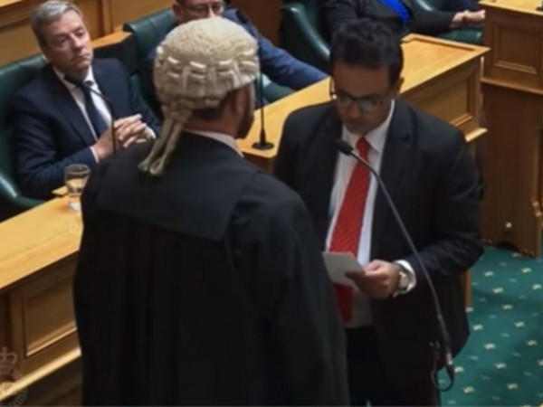 New Zealand's newly elected MP, Dr. Gaurav Sharma (Photo ANI/Twitter)