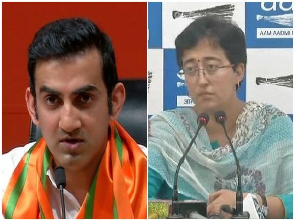BJP leader Gautam Gambhir and AAP candidate Atishi Marlena