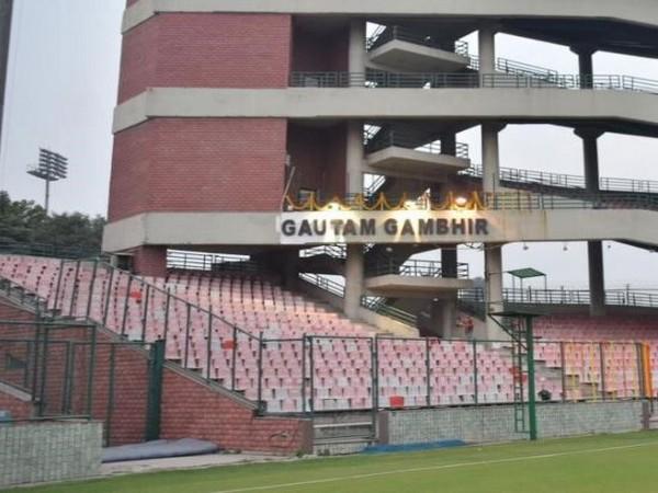 Gautam Gambhir stand at the Arun Jaitley stadium. (Photo/ Gautam Gambhir Twitter)