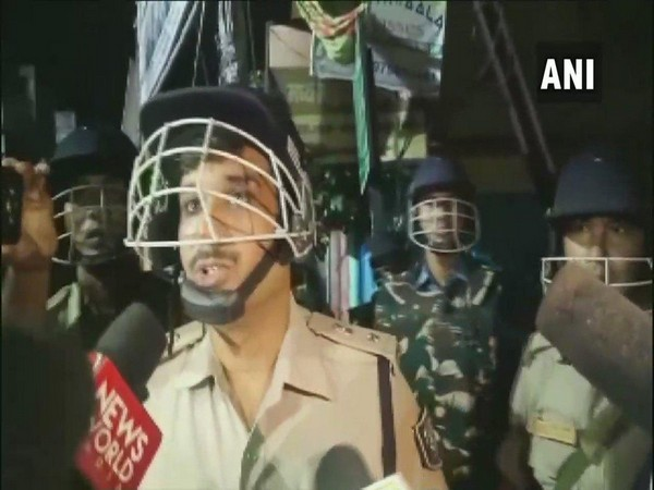 Senior Superintendent of Police (SSP) Rajiv Mishra speaking to reporters in Gaya on Thursday. Photo/ANI