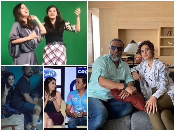 Collage of wishes received by Taapsee Pannu (Image courtesy: Instagram)