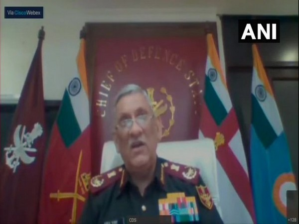 Chief of Defence Staff General Bipin Rawat speaking in the virtual address on Wednesday.