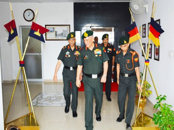 General Bipin Rawat visited Eastern Command Headquarters on Saturday and Sunday. Photo/ANI