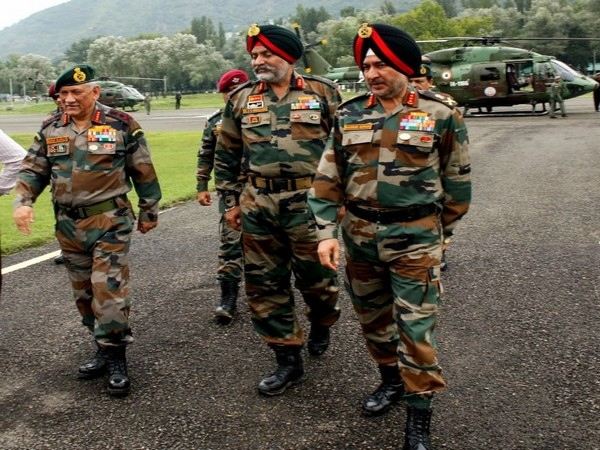 General Bipin Rawat during his visit to Jammu Kashmir (Photo tweeted by Northern Army Command on August 1)