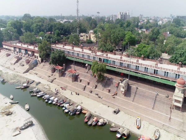 The renovated ghat under the Namami Gange programme