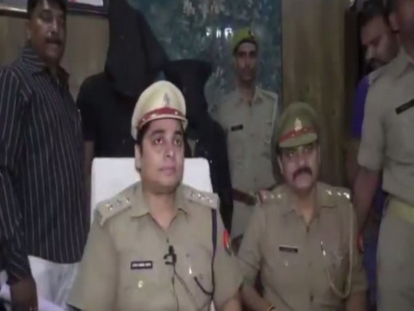 Circle Officer Atish Kumar (left) taking to reporters on Wednesday. Photo/ANI