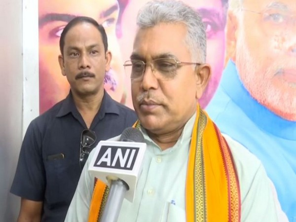 West Bengal BJP chief Dillip Ghosh in conversation with ANI. Photo/ANI