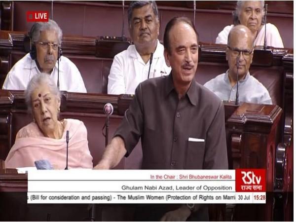 Ghulam Nabi Azad (Source Rajya Sabha TV)