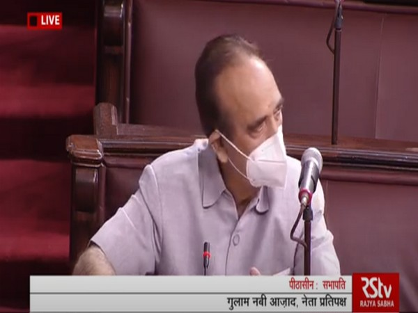 Leader of Opposition in the Rajya Sabha Ghulam Nabi Azad speaking on Tuesday.